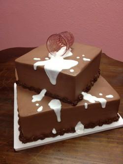 Spilled milk grooms cake