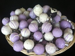 Violet Wedding Cake Pops