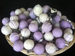 Violet Wedding Cake Pops