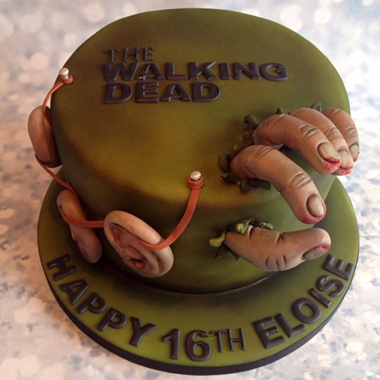 walking dead birthday cake walking dead cake 8345