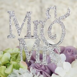 Mr & Mrs Monogram Cake Topper