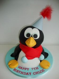 3D Penguin Cake