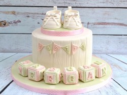 Beautiful Christening Cake