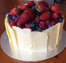 Berries and White Chocolate Cake