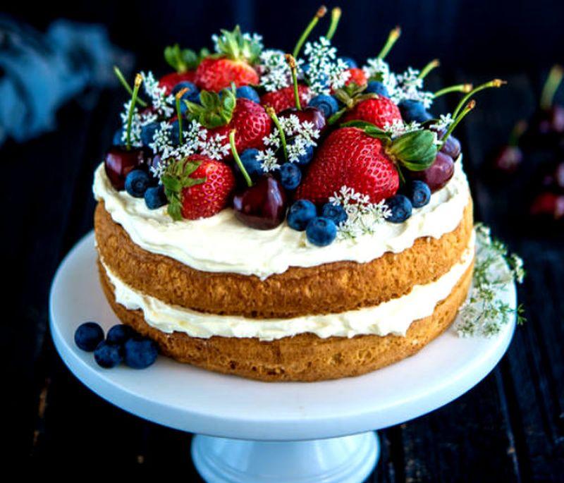 Berry And Cherry Cake