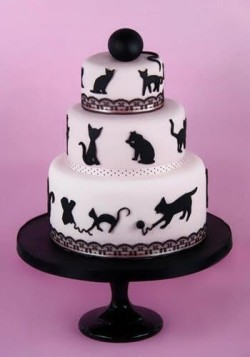 Birthday Cake with Cats