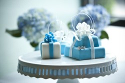 Blue Engagement Cake