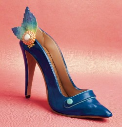 Blue High Heel Shoe