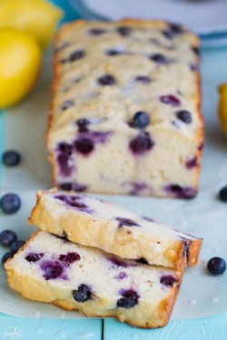 Blueberry Lemon Loaf Cake