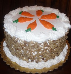 Carrot cake with carrots decorations