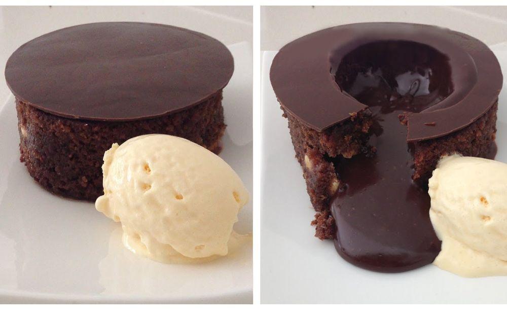 Chocolate Lava Cake Decoration : Chocolate Lava Cake
