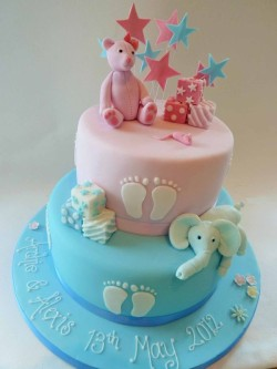 Christening Cake for Girl and Boy
