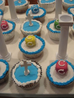 Christening Cupcakes Cross