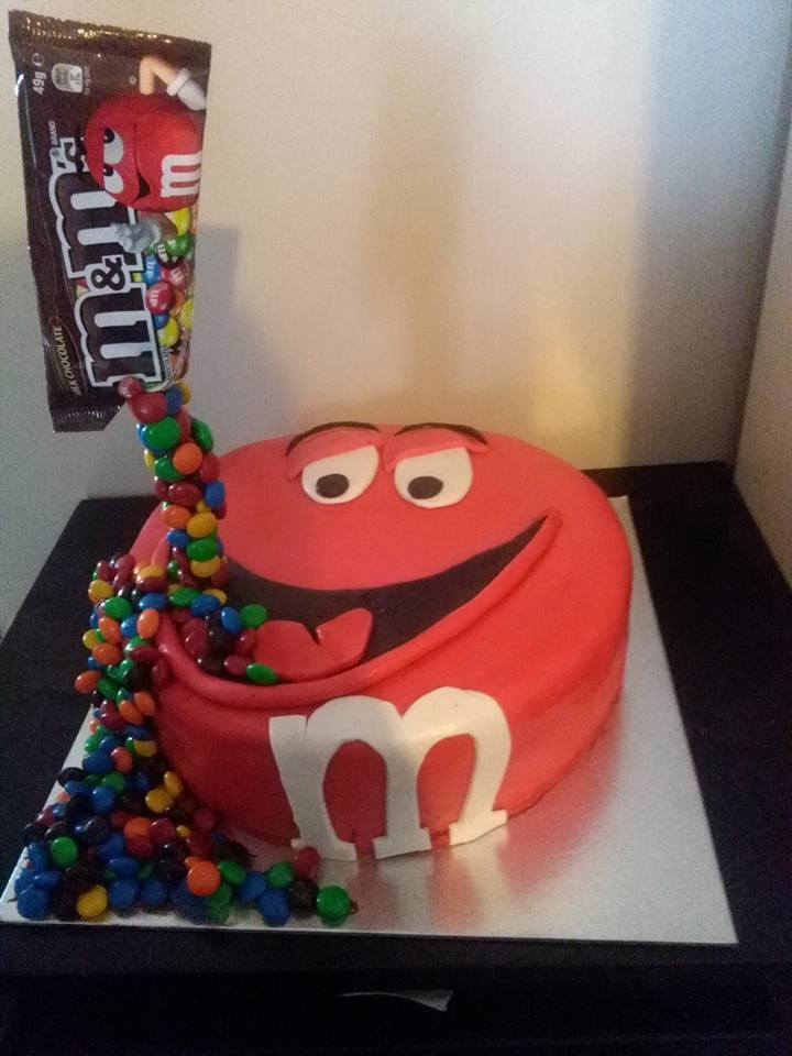 Crazy m m cake for M m cake decoration