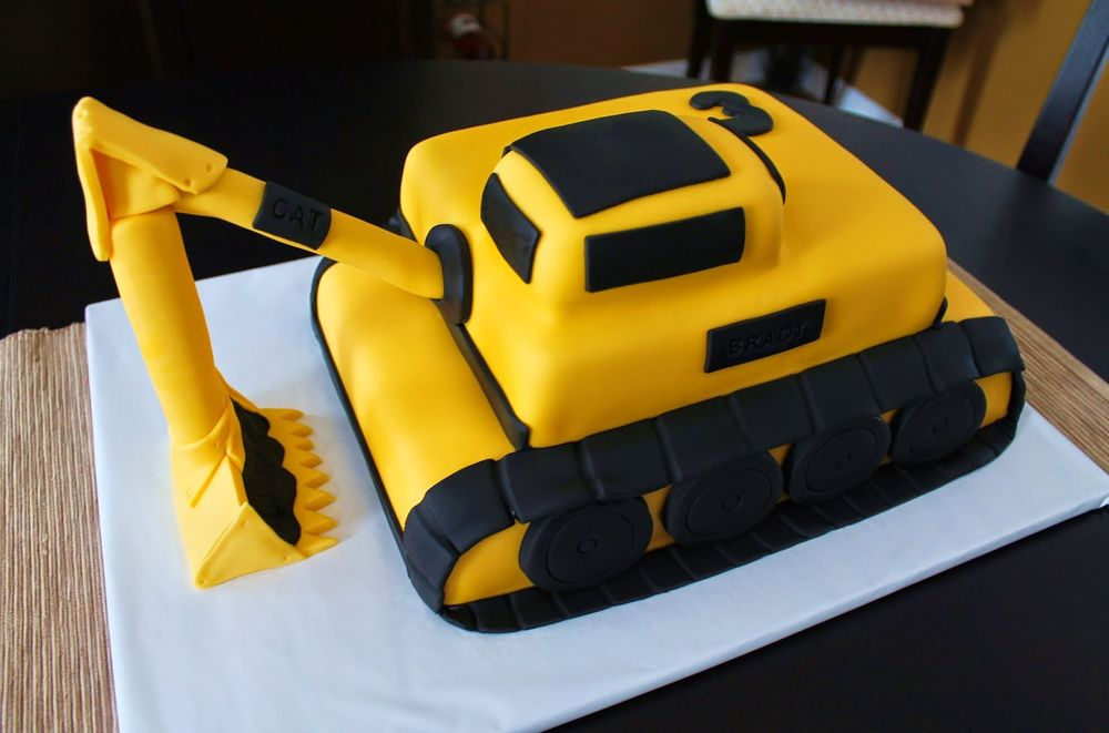 Creative cake for Digger cake template