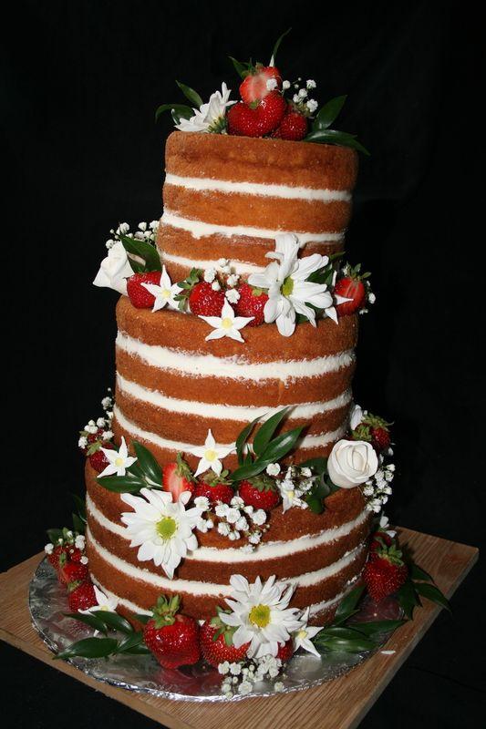 Cute Naked Wedding Cake