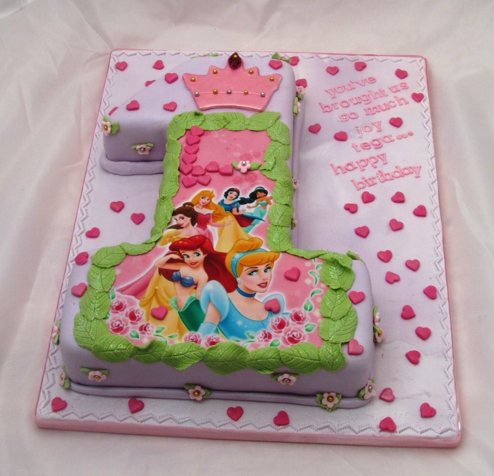 Disney Princesses 1st Birthday Cake