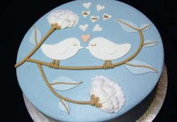 Engagement Cake with Birds