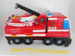Fire Station 3D Cake