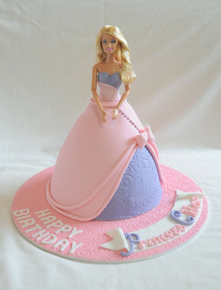 Cake Decoration Doll : Fondant Barbie Birthday Cake