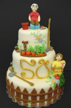 Gardening Couple Cake