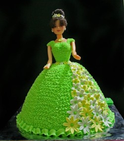 Green Barbie Cake