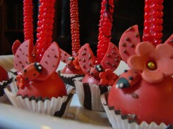 Lady Bug Red Cake Pops