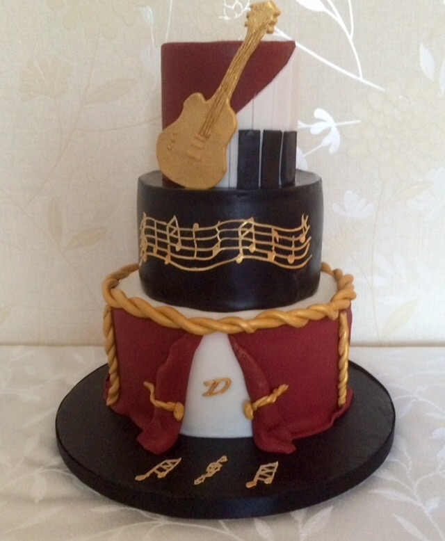 Music Theme Birthday Cake
