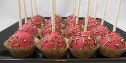 Pink Wedding Cake Pops