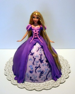 Purple Barbie Cake