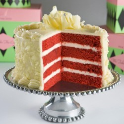 Red velvet cake with white chocolate