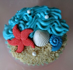 Sea Theme Birthday Cupcake