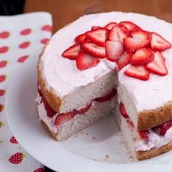 Sponge Strawberry cake