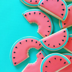 Sugar cookies – watermelon