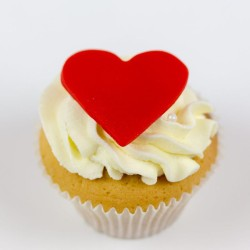 Wedding Cupcake with Heart