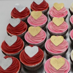 Wedding Cupcakes with Heart Decoration