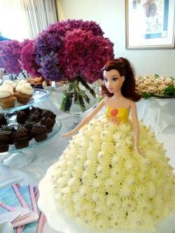 Yellow Barbie cake
