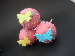 Yellow Butterfly Cake Pops