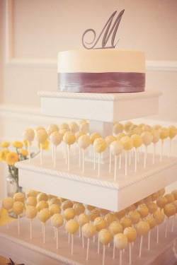 Yellow Wedding Cake Pops