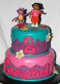 2nd Birthday Cake with Dora