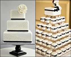 Black and White Mini Cakes