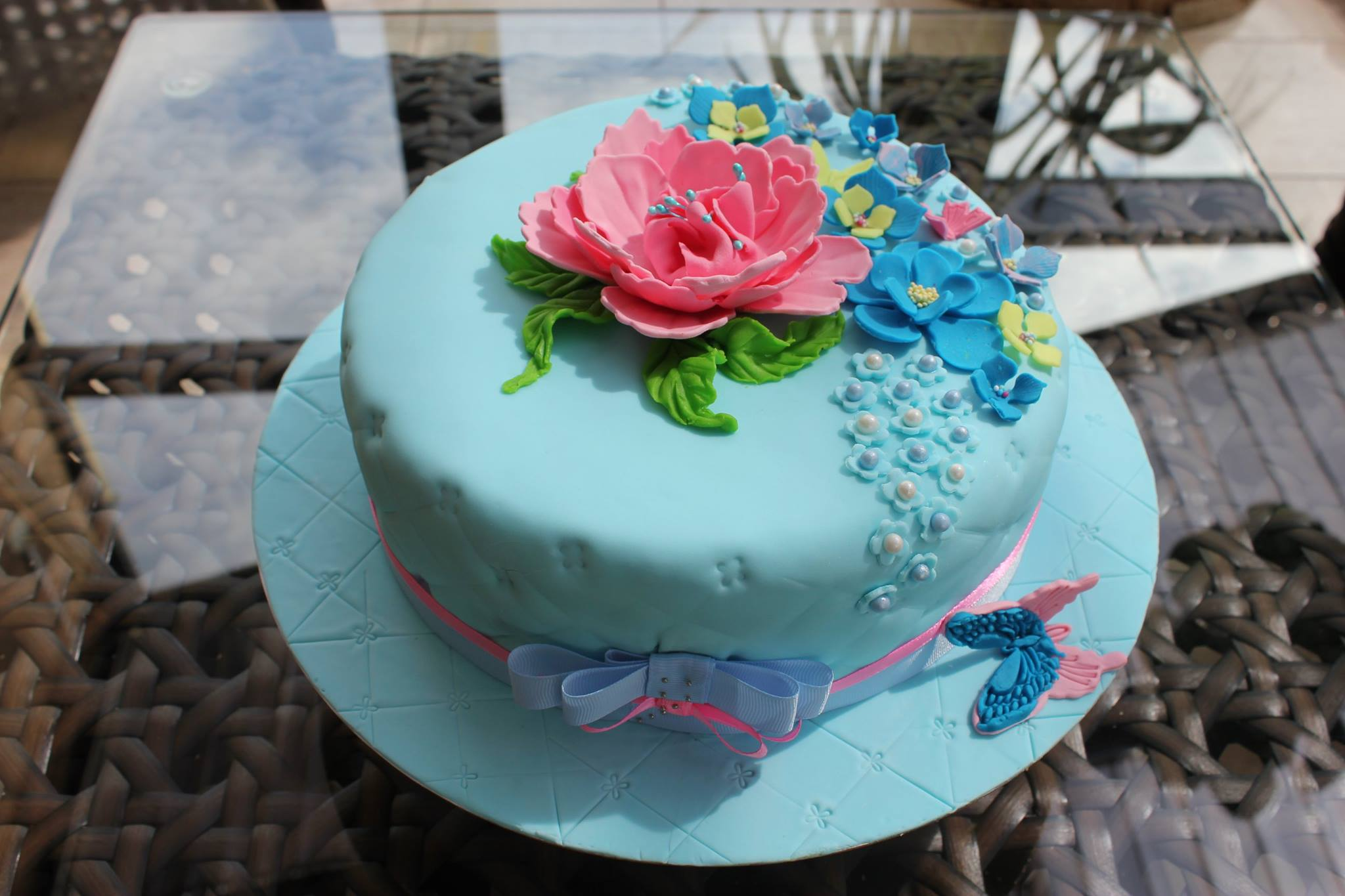 Birthday Cake Photo Galleries : Blue Birthday Cake
