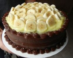 Chocolate Cake with Banana