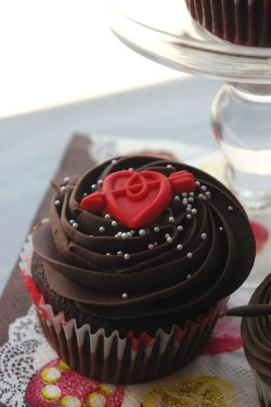 Chocolate Love Cupcake