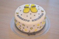 Christening Cake with Little Stars