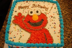 Cute Elmo Birthday Cake