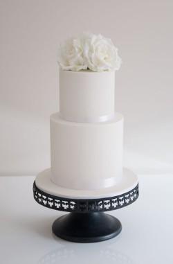 Elegant Engagement Cake