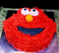 Elmo Birthday Cake Idea