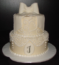 Lace Bridal Shower Cake