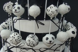 Panda Wedding Cake Pops